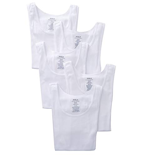 Polo Ralph Lauren Classic Fit w/Wicking Tank 5-Pack White LG