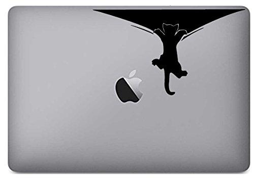 Cat Climbing Peeling - Vinyl Decal Skin Sticker Funny Art Macbook Pro Air Mac 13' 15' inch Unibody Laptop BLACK #Pro Cut Graphics