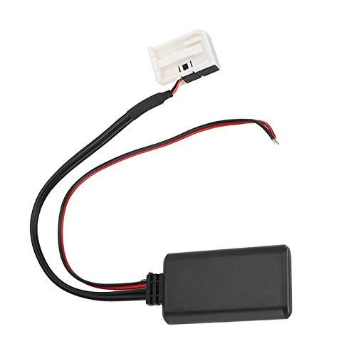 EVGATSAUTO Adaptador Bluetooth para coche, módulo de cable de radio auxiliar de 12 pines, ajuste automático para Mercedes Benz