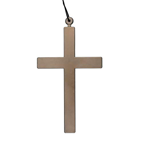 Zaleonline Halloween Gold Large Cross Exorcist Priest Monk Crucifix Necklace for Nun Vampire Fancy Dress Accessory Holy