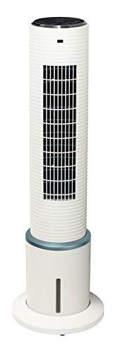 [山善] 冷風扇 扇風機 スリムファン タッチスイッチ 風量3段階調節 タイマー機能 リモコン付き ホワイト FCR-E404(W) [メーカー保証1年]