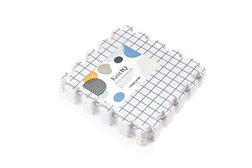 KnitIQ Spannunterlagen Zusatz-Kit für Stricken Häkeln Lace – 3 Zusatz-Spannmatten zum Erweitern der Spannunterlage für größere Strick- und Häkelstücke
