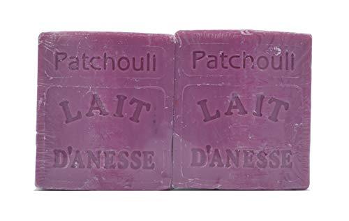 Savon au Lait d'Ânesse - parfum Patchouli (2 x 100 g) Made in France (2 x 100g)