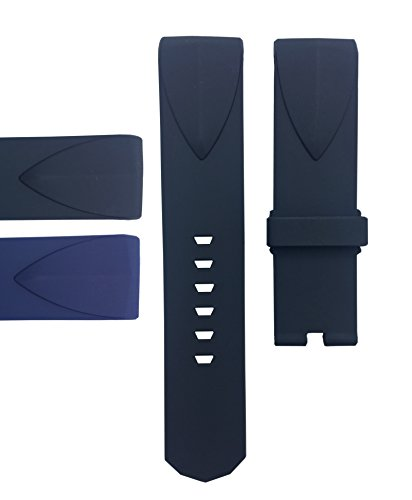 Compatible Admirals Cup 22mm,24mm Watch Band Strap | Free Spring Bar Tool (24mm, Black)