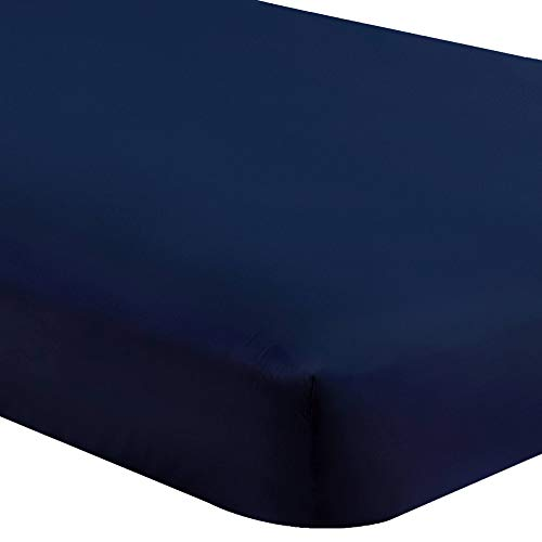 Bare Home Fitted Bottom Sheet Queen - Premium 1800 Ultra-Soft Wrinkle...