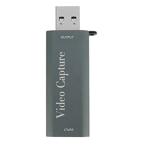 ATopoler Tarjeta de captura de vídeo 4K USB 3.0, 1080P HDMI Video Grabber, HD Video And Audio Tarjeta de captura del juego fiable para juegos transmisión en directo Grabación (USB 3.0)