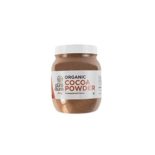 Pure & Sure Organic Cocoa Powder Pouch, 200 g