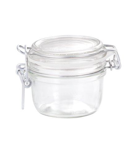 6er-Pack Einmachglas Fido rund 125ml mit Gummidichtung und Bügelverschluss Dekoglas Marmeladenglas
