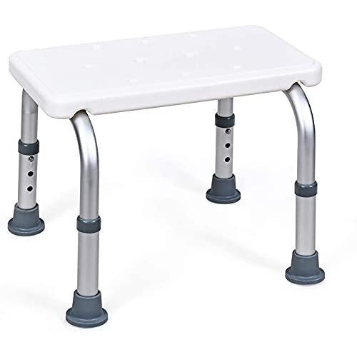 HAITAO Badesitz, Duschhocker, 3 Positionen, höhenverstellbarer Badstuhl mit rutschfesten Füßen, Badezimmer Duschbank für Senioren, Behinderte und Behinderte