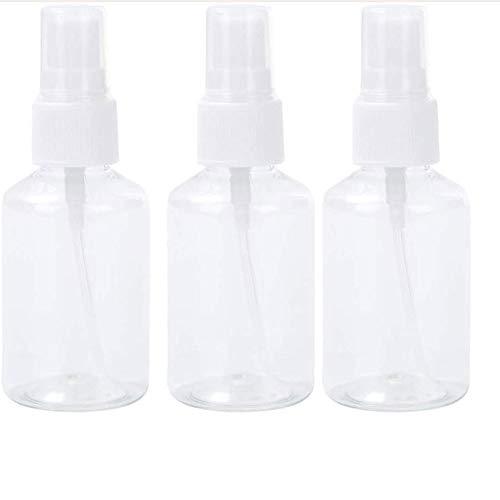 MAIEY 3 Pcs Clear Fine Vide Mist Plastique Atomiseur Voyage Bouteille Petit Liquide Rechargeables Conteneurs for Alcool Jardinage Cuisine Bath