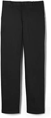 French Toast Big Boys Flat Front Double Knee Pant with Adjacent Waist Black 20 product image