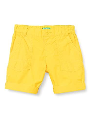 United Colors of Benetton (Z6ERJ) Bermuda 4AC759GC0 Pantaloncini, Giallo 3N7, 62 Bambino