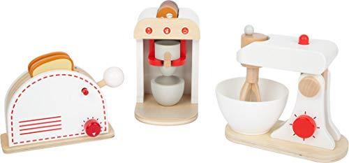 Small Foot Small foot-11684 Set Electrodomésticos de Cocina Infantil,, 3 Piezas de Madera, a apartir de 3 años. Toys (11684)