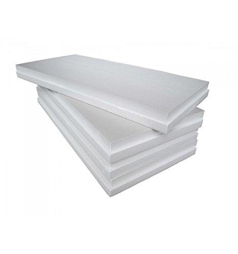 Imballaggii2000 - Pannelli Polistirolo Isolanti - Ideali per Isolamento Termico Pareti, Soffitto e Controsoffitto - Densità di 10 kg/mq - 100x100x1 cm - Confezione da 60 Pezzi