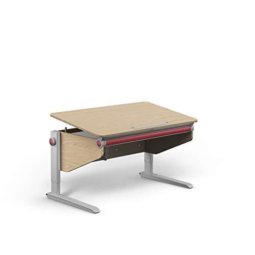 moll Winner Eiche Comfort Kinderschreibtisch, Holz, 120cm × 70cm × 53-82cm