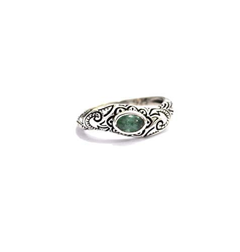 Natural Emerald Gemstone List price Ring-Simple Silver Virginia Beach Mall Ring-Sterling Ring-E