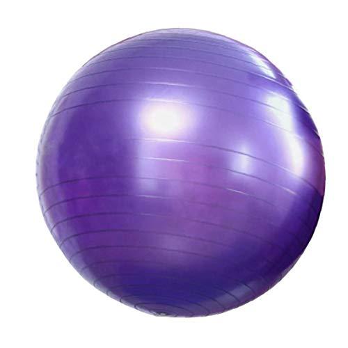 Yoga Bola Aptitud del Ejercicio de Estabilidad Anti-explosión de la Bola para el Parto Yoga Pilates Fitness Embarazo púrpura Trabajo 65cm