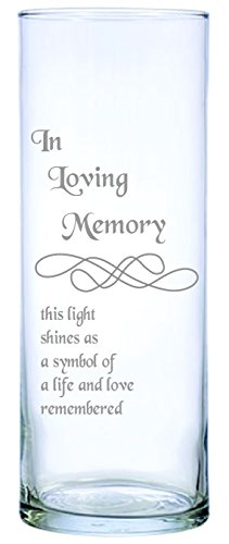 IE Laserware Beautifully etched Memorial Candle