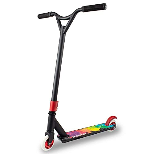 Paelf Extreme Scooter Stunt Scooter Dos pies Descalzos Street Stunt Scooter Pro 360 Spin Tricks Push/Kicks Edition Diseño Land Surfer Pro Stunt Scooter Coche de Juguete para niños al Aire