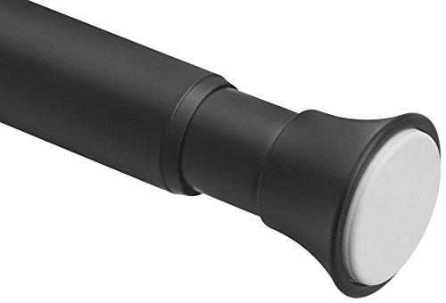 "Amazon Basics Tension Curtain Rod, Adjustable 78-108"" Width, Black"