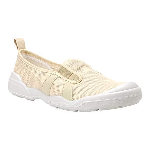 [ムーンスター] 大人の上履き 01 介護 入院 リハビリ 室内 シューズ 日本製 靴 ベージュ 26cm