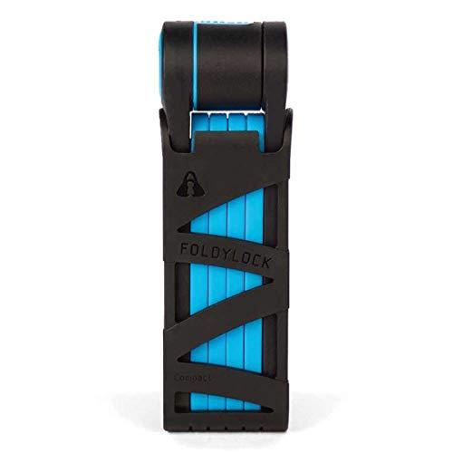 Eclypse Compact Folding Bike Lock - Foldable Bike Lock with Key and Mounting Case - 85cm Blue