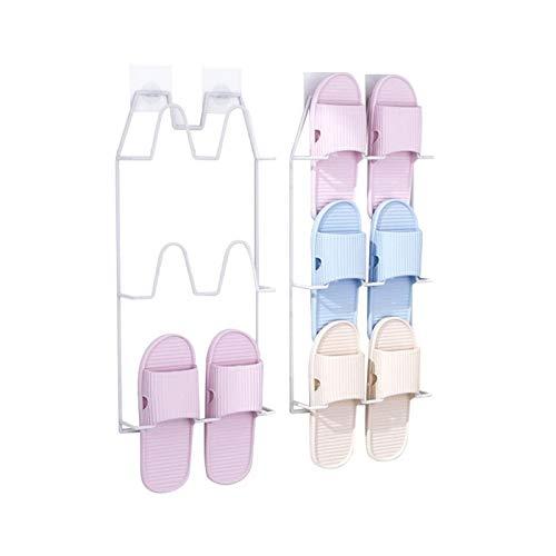 XIANGGUI 1983 Almacenamiento de Zapatos Estante de Zapatos de baño Colgando estantes no porosos, Capacidad de cojinete Fuerte y robustez Zapatero (Color : White)