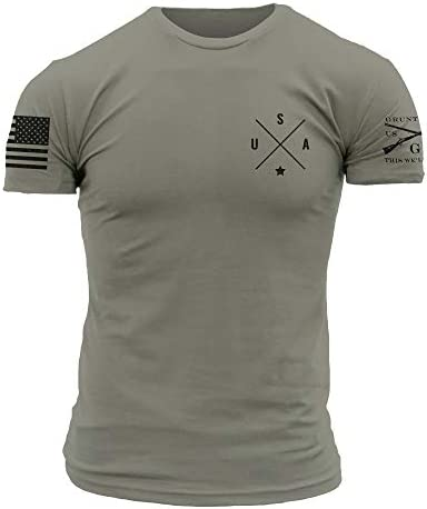Grunt Style Basic Simple USA Men s T Shirt Warm Grey Medium product image