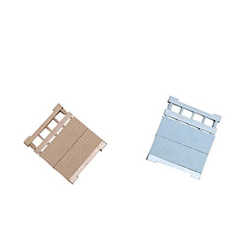 FLAMEER 2X Organizador de Estantes Colgadores Extensibles Varillas de Tensión 30 40 Cm