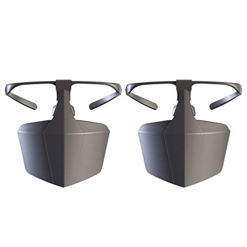 Exceart 2 Stücke Gesichtsschutz Helm Mundschutz Maske Gesichtsschutzschild Schutzbrille Staubmaske PVC Schutzhelm für Arbeit Radfahren Staub Reise Outdoor