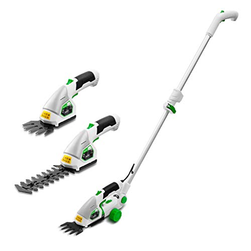 Best Price ELSP 7.2V 2 in 1 Cordless Grass and Hedge Trimmer, Battery Powered Lightweight Electric T...