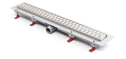 Duschrinne Bodenablauf Edelstahl Ablaufrinne Badablauf flach 85cm Modell: Medium