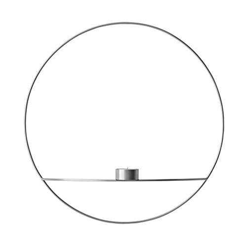 Menu - POV Circle Teelichthalter, L/Silber