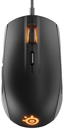SteelSeries Rival 100 Mouse Ottico da Gioco, Illuminazione RGB, 6 Pulsanti, Nero