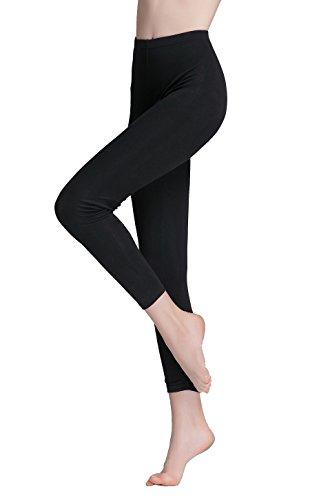 Vinconie Übergröße Jogginghose Damen Thermohose Schwarz Winterleggings Yogahose