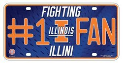 Illinois Fighting Illini 400101 Metal License Plate Tag University of