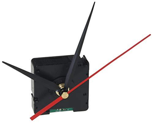 ChiliTec GmbH Uhrwerk DCF Funk-Uhrwerk mit 3 Zeigersätzen Kunststoffgehäuse zum Hängen Uhren-Bausatz schwarz