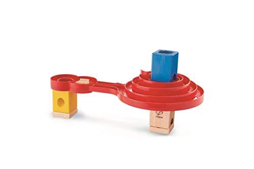 Hape E6026 - Doppel-Spirale, Zubehör für Quadrilla Kugelbahnen, beidseitig nutzbare Spirale ab 4 Jahren, rot