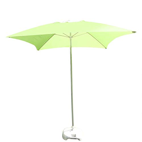 Parasols 2M/6.6' Outdoor Patio Square Garden Table Umbrella, For Outdoor Yard, Beach Commercial Event Market, Swimming Pool Side (Color : Fruit Green)
