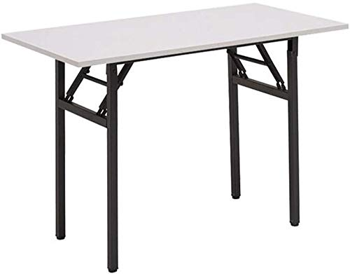 Coffee Table FHW Tables Computer Desk Folding Sturdy Heavy Duty Laptop Writing Desks Sewing No Assembly Required Multifunctional (Size : White)