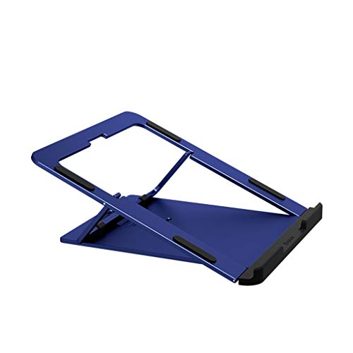 ZHAN YI SHOP Laptop Stand, Foldable PortableVentilated Adjustable Laptop Stand, Aluminum Laptop Riser, For MacBook Pro/Air, HP, Dell, Lenovo, Samsung, Acer, Huawei MateBook (Color : Blue)