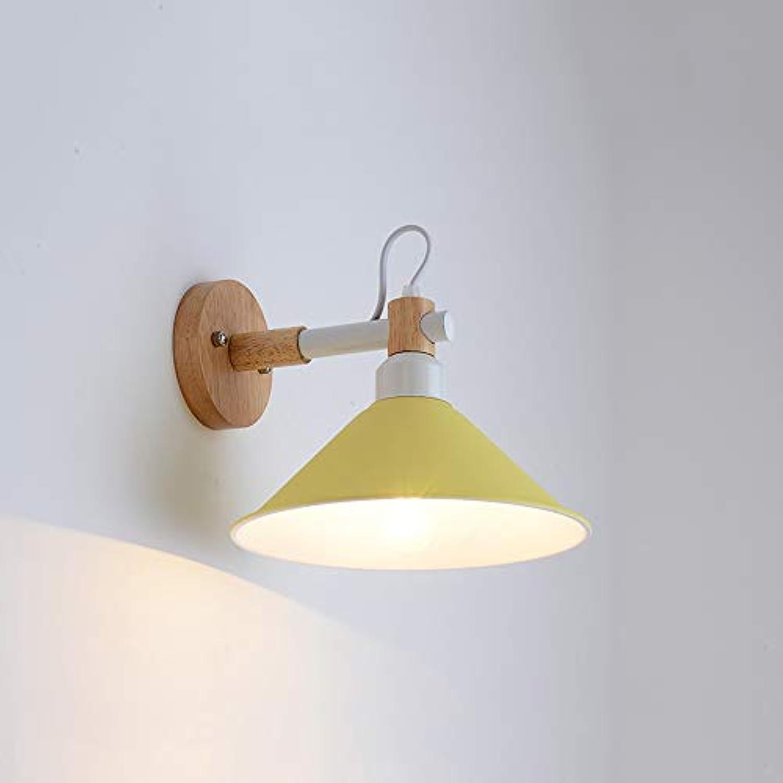 Moderne Unbedeutende Wohnzimmerganghintergrundwand Des Wandlampenschlafzimmers Kreative Wandlampe Macaron Lampen-Nachttischlampe (Farbe   C)