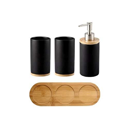 Colgando de la pared Cerámica de bambú Vasos de baño cepillarse los dientes Copas Baño Emulsión de contenedores vajilla de cocina líquido for lavar platos de contenedores Para dormitorio, sala de esta