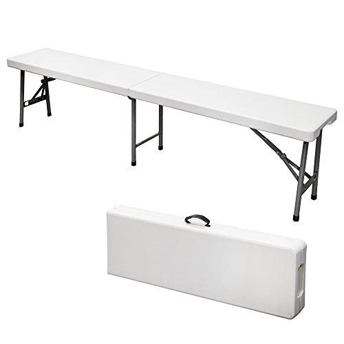 Panchina panca in resina richiudibile valigia 182x30xh43cm picnic viaggio 4004