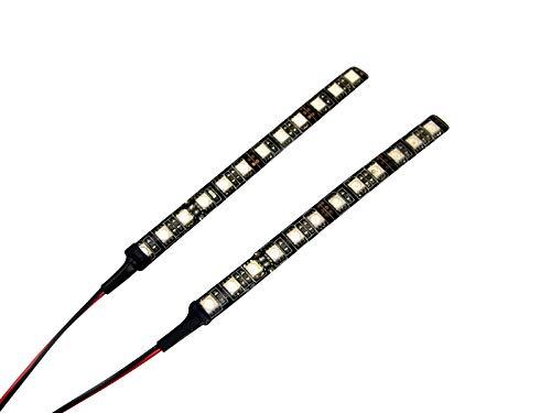 Paar von Sehr Hell Universal Weiß LED Selbstklebend Streifen 15cm