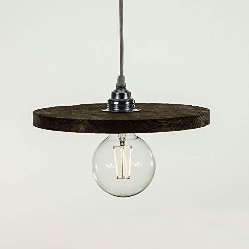Richter-Leuchten, Richter, LED Pendelleuchte Bauhaus Pro100 mit gebürstetem Holz-Eiche wengefarben...