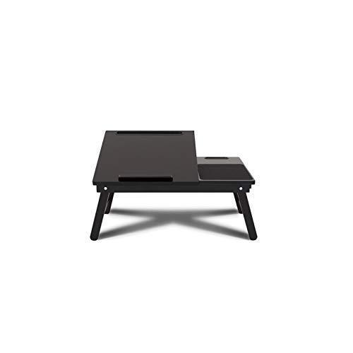 Beistelltisch in C-Form Laptoptisch Schwarz Als Tabletttisch Fürs Bett Oder Sofa Aus Holz - Tablet-Halterung Faltbar Für Laptop Oder Bücher - Betttisch Höhenverstellbar 54 X 35 X 23 Cm - Schwarz rolle
