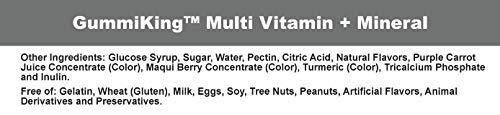 Gummi KingMultivitamin and Mineral Supplement, Strawberry Lemon Orange Grape Cherry Grapefruit, 60 Count by Gummi King