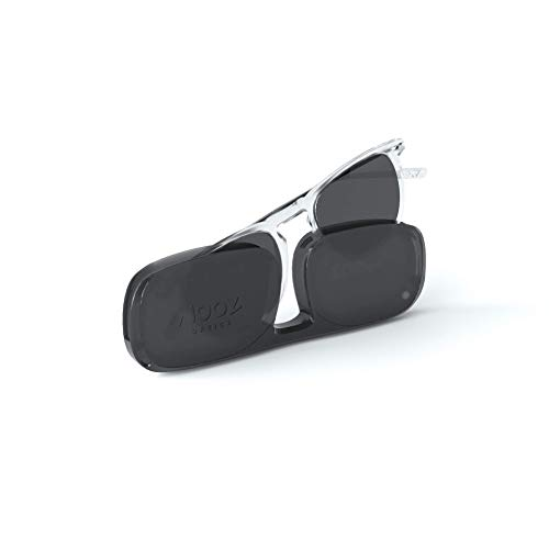 NOOZ Occhiali da sole polarizzati per uomo e donna - Protezione di categoria 3 - Colore cristallo - con custodia compatta - Collezione DINO