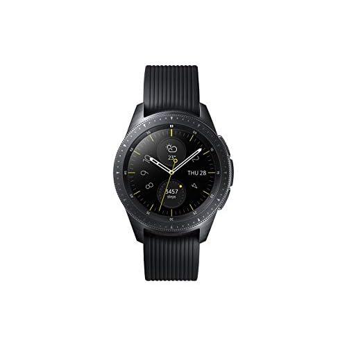 Samsung Galaxy Watch, Bluetooth 4.2, Processore 1.15 GHz, 4 GB Memoria ROM, Funzioni per fitness, GPS integrato, Nero, 42 mm [Versione Italiana]